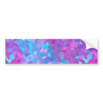 Holographic Sparkles Pattern Bumper Sticker