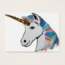 holographic unicorn business card