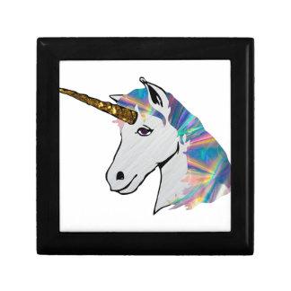 holographic unicorn jewelry box