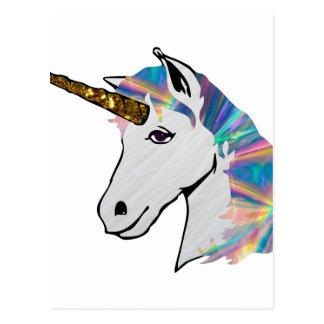 holographic unicorn postcard