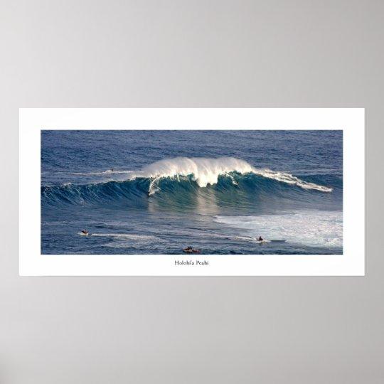 Holohi'a Peahi . surf photo poster . see descrip.