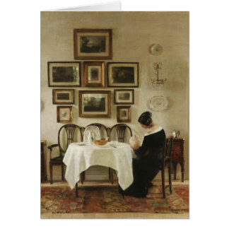 Holsøe Mother and child in a dining room CC0463 Greeting Card