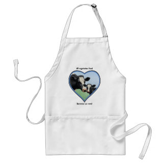 Holstein Calf & Cow Blue Heart Vegetarian Adult Apron