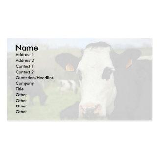 Holstein cattle business card