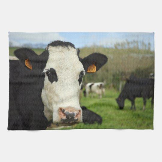 Holstein cattle kitchen towel