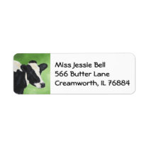 Holstein cow address label