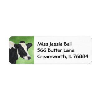 Holstein cow address label