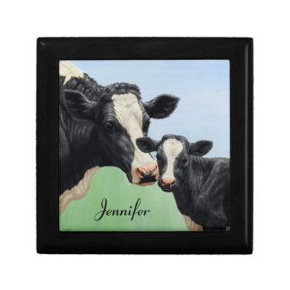 Holstein Cow and Calf Gift Box