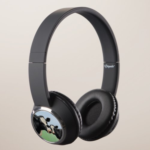 Holstein Cow and Cute Calf Headphones