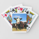 Holstein cow bicycle poker cards