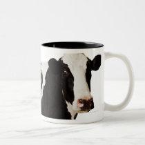 Holstein Cow | Bos taurus Two-Tone Coffee Mug