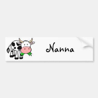 Holstein cow car bumper sticker