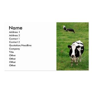 Holstein cow business card
