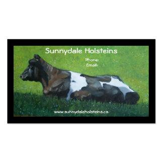 Holstein Cow: Business, Farm: Calendar on Back Business Card