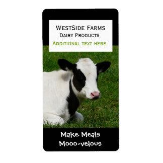 Holstein Cow Dairy  Product Label Sticker
