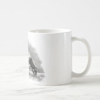 Holstein Cow Grazing: Realism Pencil Drawing Coffee Mug