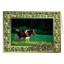 Holstein Cow Heifer Blank Christmas Card