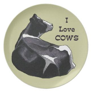 Holstein Cow: I Love Cows: Dairy, Farm Plates
