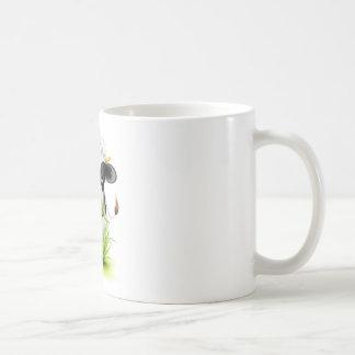 Holstein cow in grass coffee mug