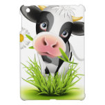 Holstein cow in grass cover for the iPad mini