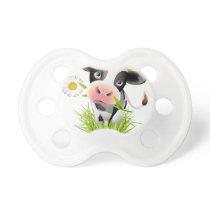 Holstein cow in grass pacifier