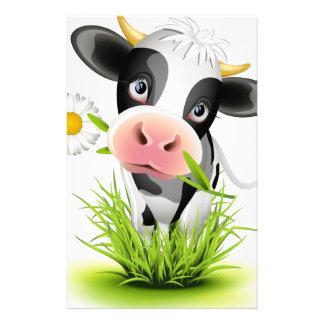 Holstein cow in grass stationery