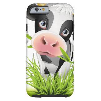 Holstein cow in grass tough iPhone 6 case