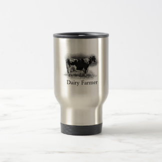 Holstein Cow in Pencil: Dairy Farmer Travel Mug