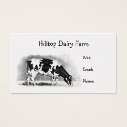 Of holstein cow business cards templates zazzle holstein cow in pencil dairy milk farm business card colourmoves