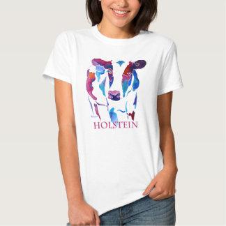 Holstein Cow in Purple & Blues T-shirt
