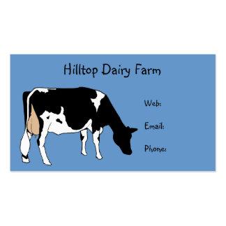 Holstein Cow Line Drawing: Dairy, Milk, Farm Business Card