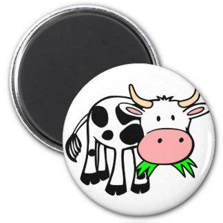Holstein cow 2 inch round magnet