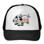 Holstein cow mesh hat
