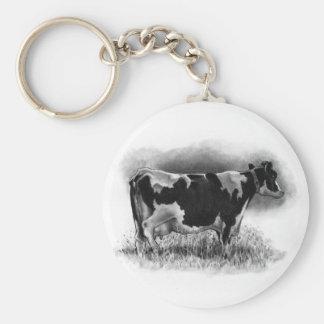 Holstein Cow: Original Pencil Drawing: Dairy Keychain