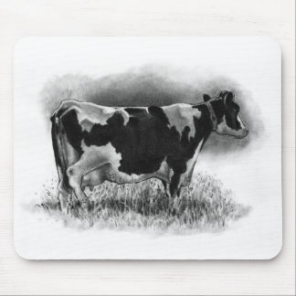 Holstein Cow: Original Pencil Drawing: Dairy Mouse Pad