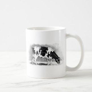 Holstein Cow: Pencil Drawing: Farm, Country Coffee Mug