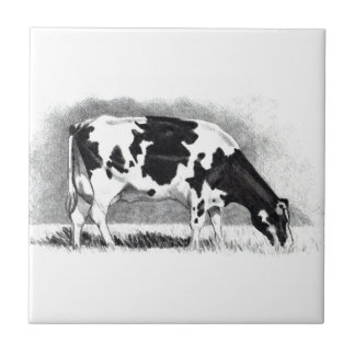 Holstein Cow: Pencil Drawing: Farm, Country Tile