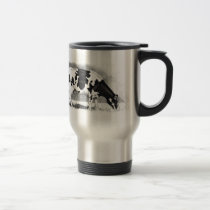 Holstein Cow: Pencil Drawing: Farm, Country Travel Mug