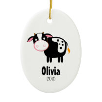HOLSTEIN COW Personalized Christmas Ornament