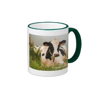Holstein cow ringer mug