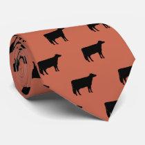 Holstein Cow Silhouettes Pattern Neck Tie