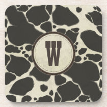 Holstein Cowhide Cow Hide Pattern Beverage Coaster