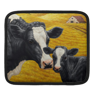 Holstein Cows and Old Wood Barn Sleeve For iPads