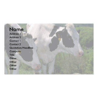Holstein Dairy Cattle Business Card