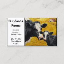 Holstein Dairy Cattle Farm Business Card