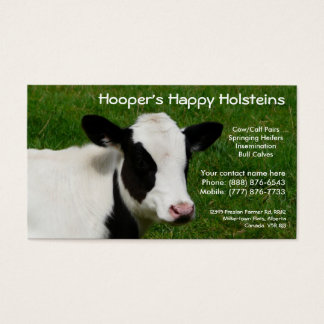 Holstein Dairy Cow Cattle Ranch Business Card