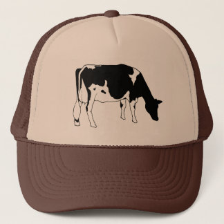 Holstein Dairy Cow, Freehand Line Drawing Trucker Hat