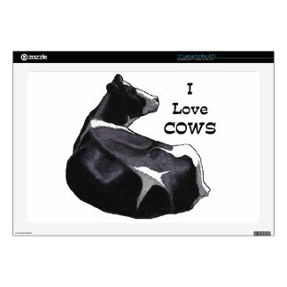 Holstein Dairy Cow: I Love Cows: Original Art Skin For Laptop