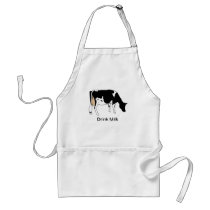 Holstein Dairy Cow, Line Drawing, Milk Adult Apron