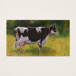 Holstein Dairy Cow: Oil Pastel Painting: Farm Business Card